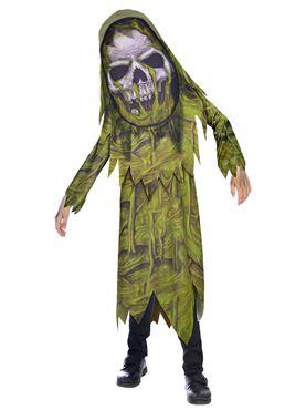 Child Swamp Zombie Big Head Costume
