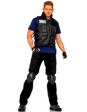 Adult Deluxe SWAT Commander Costume Thumbnail