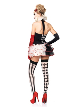 Adult Sweetheart Harlequin Costume - Back View