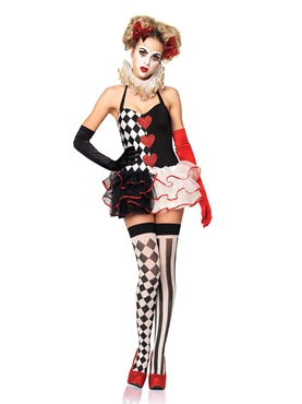 Adult Sweetheart Harlequin Costume