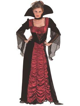 Adult Taffeta Coffin Vampiress Costume