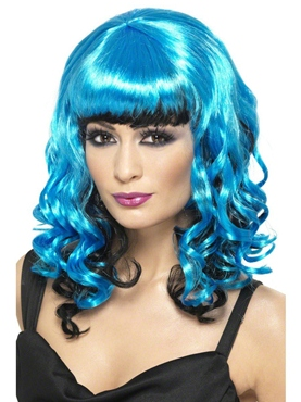 Tainted Garden Blue and Black Wig