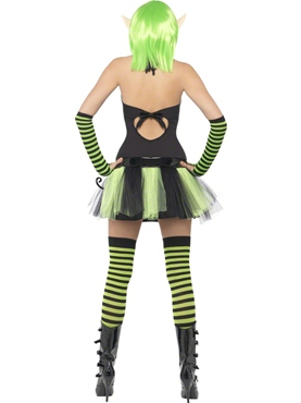 Adult Tainted Garden Wild Ivy Elf Costume - Side View