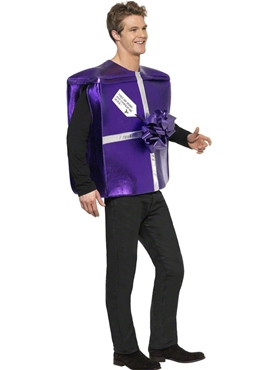 Adult Take Me Home and Unwrap Present Costume - Back View