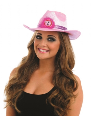 Adult Pink Flashing Take Me Out Cowgirl Hat