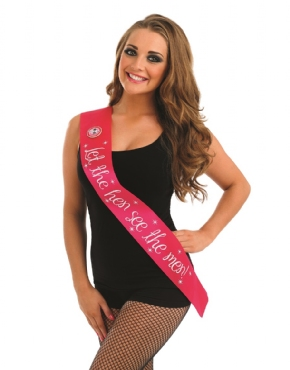 Take Me Out 'Hen See the Men' Sash