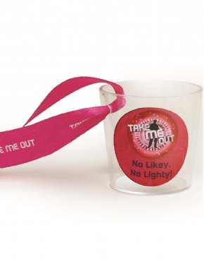 Take Me Out 'No Likey No Lighty' Shot Glass - Back View