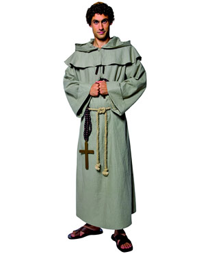 Adult Tales of Olde England Friar Tuck Costume - Back View