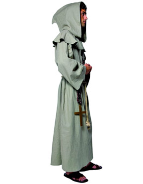 Adult Tales of Olde England Friar Tuck Costume - Side View