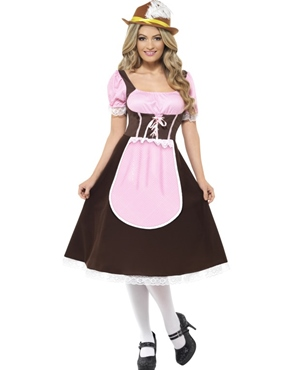 Adult Tavern Girl Long Dress Oktoberfest Costume Thumbnail