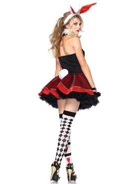 Adult Tea Party Bunny Costume - Back View