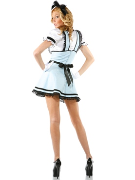 Adult Teacup Tease Alice Costume - Back View