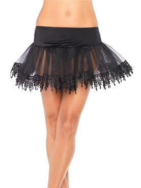 Teardrop Lace Petticoat - Back View
