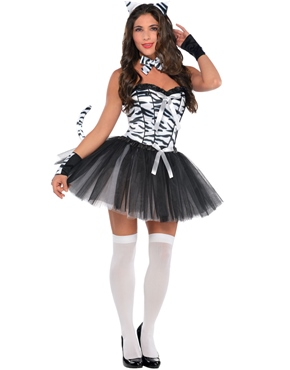 Tease Zebra Girl Costume