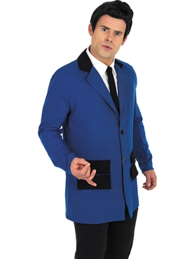 Adult Blue Teddy Boy Costume - Back View