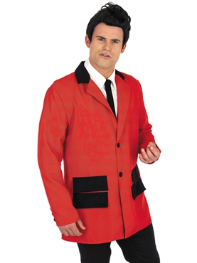 Adult Red Teddy Boy Costume - Back View