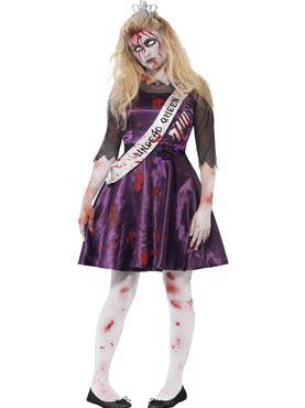 Teen Zombie Prom Queen Costume
