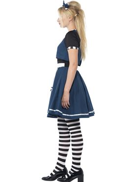 Teen Dark Day Dreamer Alice Costume - Back View