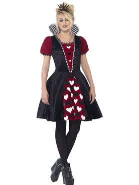 Teen Deluxe Dark Red Queen Costume