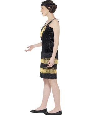 Teen Flapper Girl Costume - Back View
