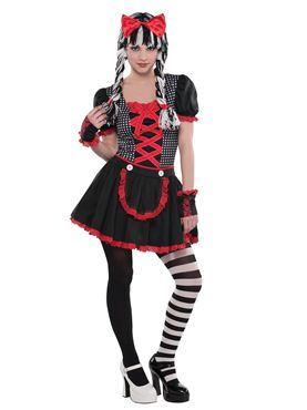 Teen Gothic Doll Costume