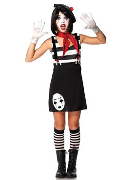 Teen Miss Mime Costume