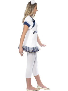 Teen Miss Sailor Girl Costume - Back View