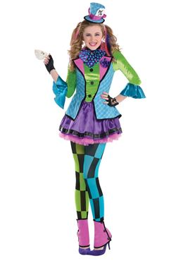 Teen Sassy Mad Hatter Costume