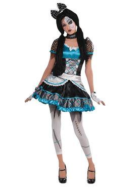 Teen Shattered Doll Costume