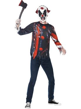 Teen Skeleton Sinister Creepy Clown Kit