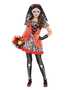 Teen Sugar Skull Senorita Costume