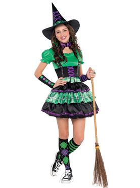 Teen Wicked Cool Witch Costume Couples Costume