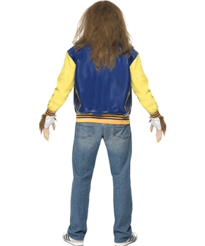 Adult Teen Wolf Costume - Back View