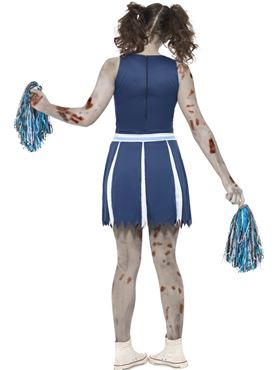 Teen Zombie Cheerleader Costume - Side View
