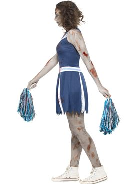 Teen Zombie Cheerleader Costume - Back View