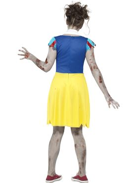 Teen Zombie Miss Snow Costume - Side View