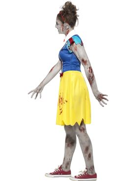 Teen Zombie Miss Snow Costume - Back View