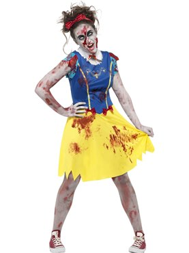 Teen Zombie Miss Snow Costume
