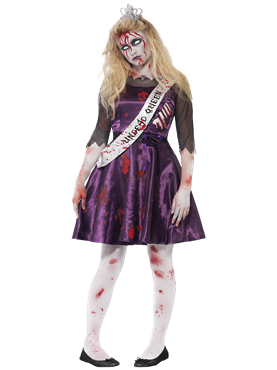 Teen Zombie Prom Queen Costume Couples Costume