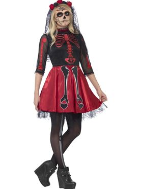 Teen Day of the Dead Diva Costume