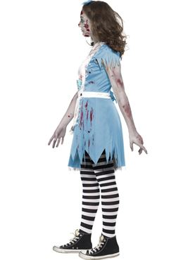 Teen Zombie Tea Party Costume - Back View