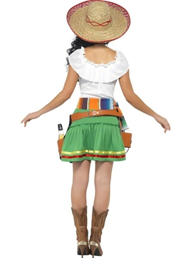 Adult Tequila Shooter Girl Costume - Side View