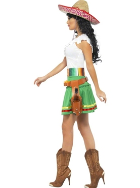 Adult Tequila Shooter Girl Costume - Back View