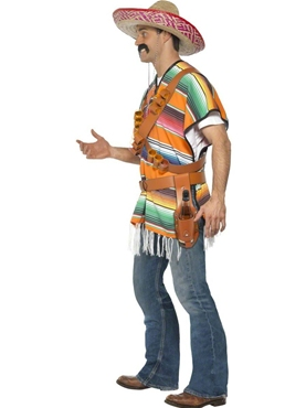 Adult Tequila Shooter Guy Costume - Back View