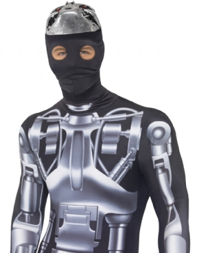Adult Deluxe Terminator 2 Endoskeleton Costume - Back View  sc 1 st  Fancy Dress Ball & Adult Deluxe Terminator 2 Endoskeleton Costume - 38217 - Fancy Dress ...