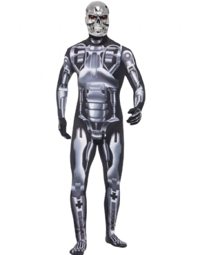 Adult Deluxe Terminator 2 Endoskeleton Costume Couples Costume