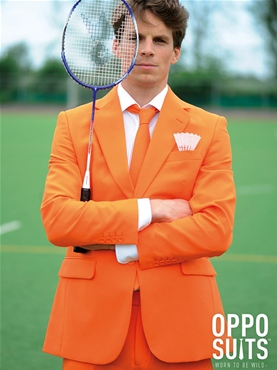 Adult Orange Oppo Suit - Back View