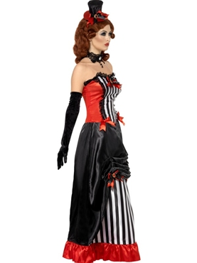 Adult Theatre Macabre Madame Vamp Costume - Back View