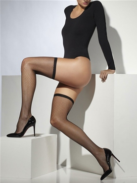 Thigh High Lattice Black Tights