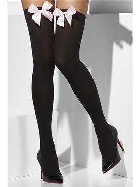 Thigh-High Stockings Black Pink
